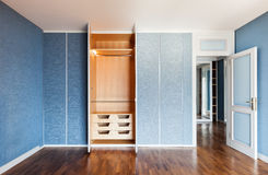 Room with wardrobes Royalty Free Stock Photo