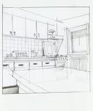 Interior of apartment kitchen Stock Photo
