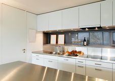 Interior apartment, kitchen view Stock Images