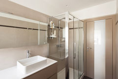 Interior apartment, sink and shower Stock Image