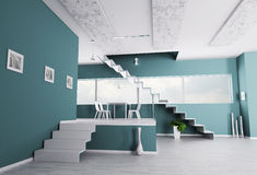 Interior of apartment with staircase Royalty Free Stock Images