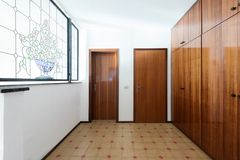 Interior of apartments, empty entry royalty free stock image