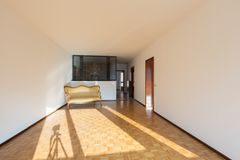 Interior of apartments, empty room stock photography