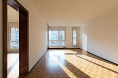 Interior of apartments, empty room stock photos