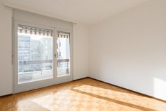 Interior of apartments, empty room royalty free stock image