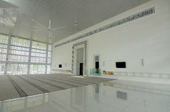 Interior of Ara Damansara Mosque in Selangor, Malaysia. SELANGOR, MALAYSIA – JUNE 15, 2015: Ara Damansara Mosque is a mosque on the green technology royalty free stock image