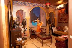 Interior of arabian restaurant Royalty Free Stock Photos