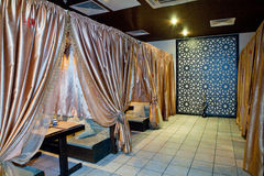 Interior of arabian restaurant Royalty Free Stock Photo