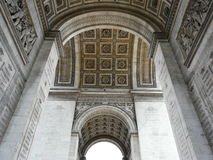 Interior of the Arc de Triomphe, Paris. Carvings and sculpture on the interior of the Arc de Triomphe in Paris in France Royalty Free Stock Images