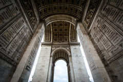 The interior of the Arc de Triomphe, in Paris, France. Stock Image