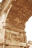 Interior of the Arch of Titus in the Roman Forum Stock Photo