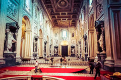 Interior of Archbasilica of St. John Lateran in Rome Royalty Free Stock Image