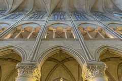 Interior Architectural Detail of Notre-dame Stock Photo