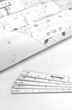 Interior and architectural drawing royalty free stock photography