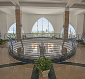 Interior architecture of atrium lobby in hotel resort Royalty Free Stock Photos