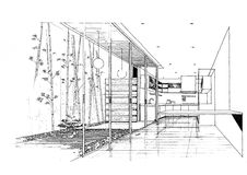Interior architecture construction landscape sketc. H design image art decorate fashion Stock Images