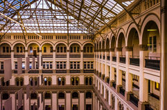 Interior architecture at the Old Post Office, in Washington, DC. royalty free stock images
