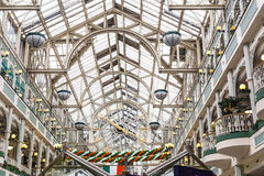 Interior architecture of St Stephen`s shopping centre in Dublin. DUBLIN, IRELAND - 18th March, 2017: the beautiful interior architecture of St Stephen`s shopping Royalty Free Stock Photo