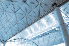 Interior architecture structure of airport Stock Photos