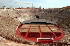 Interior of the Arena in Verona, Italy Royalty Free Stock Photo
