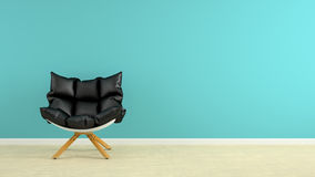 Interior with armchair 3D rendering. Interior with the armchair 3D rendering Royalty Free Stock Photo