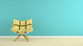 Interior with armchair 3D rendering. Interior with the armchair 3D rendering Royalty Free Stock Images