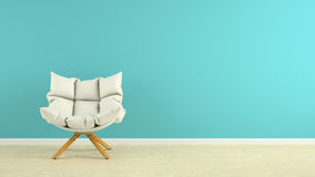 Interior with armchair 3D rendering. Interior with the armchair 3D rendering Stock Images