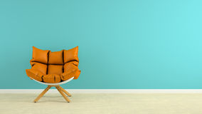 Interior with armchair 3D rendering. Interior with the armchair 3D rendering Stock Photos