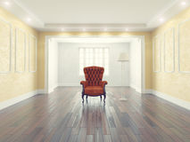 Interior with armchair Royalty Free Stock Photography