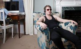 Interior armchair teenager attitude Stock Photography
