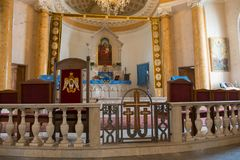 Interior of The Armenian Church of St. Catherine near Nevsky Street in St. Petersburg. RUSSIA, SAINT PETERSBURG - AUGUST 18, 2017:  Interior of The Armenian Royalty Free Stock Photography