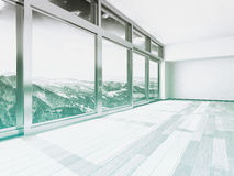 Interior arquitectónico del edificio con Windows de cristal fotografía de archivo