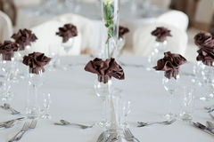 Interior Arrangement with wine glasses Royalty Free Stock Photography