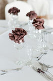 Interior Arrangement with wine glasses Royalty Free Stock Photos