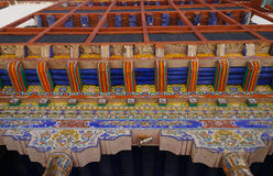 Interior art decoration in Hemis Monastery, Ladakh, India Royalty Free Stock Photos