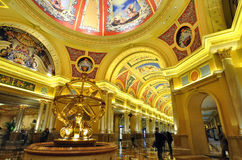 Interior Art of Venetian Hotel at Macau Stock Image