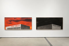 Interior Artworks of The Broad Contemporary Art Museum. LOS ANGELES, CALIFORNIA - JULY 5, 2016: The Broad, a contemporary art museum in Los Angeles, California Stock Photography
