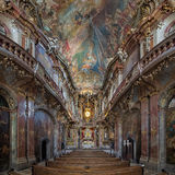 Interior of Asamkirche in Munich, Germany Stock Images