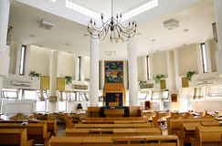 Interior of the Ashkenazic synagogue in Samaria Royalty Free Stock Photography