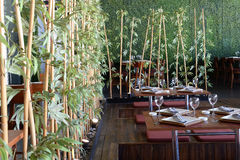 Interior of Asian restaurant Royalty Free Stock Photo
