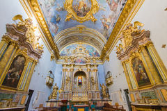 Interior of Assisi church Royalty Free Stock Photography