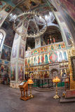 Interior of the Assumption Cathedral in Iversky Monastery Royalty Free Stock Photos