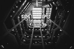 Interior of the Atrium on Bay, in Toronto, Ontario. Royalty Free Stock Images