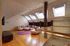 The interior of the attic Stock Photos