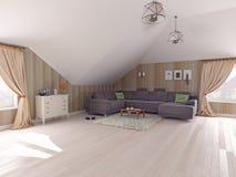 Interior  attic Royalty Free Stock Photo