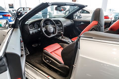 Interior Audi A5 Cabriolet Royalty Free Stock Photo