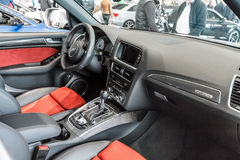 Interior Audi A5 Cabriolet Stock Photos