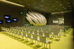 Interior Auditorium of The Broad Contemporary Art Museum. LOS ANGELES, CALIFORNIA - JULY 5, 2016: The Broad, a contemporary art museum in Los Angeles, California Royalty Free Stock Photos