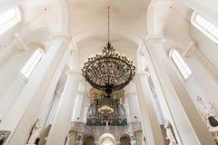 Interior austero de la iglesia Foto de archivo