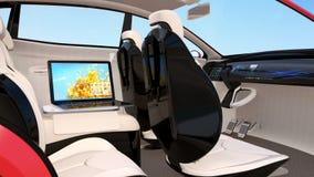 Interior autónomo del coche ilustración del vector